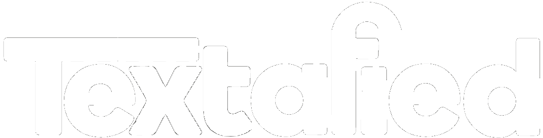 White Textafied logo
