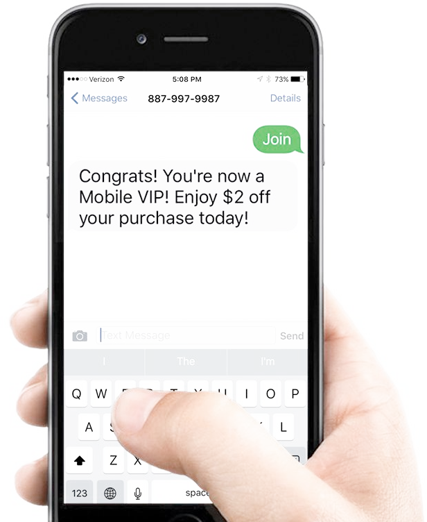 Opt in text marketing